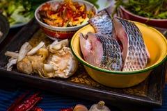 Pesce crudo di tilapia Fotografia Stock Libera da Diritti