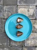 Pesce crudo su un piatto Immagine Stock