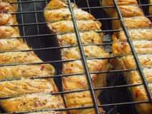 Pesce del BBQ Fotografia Stock Libera da Diritti