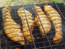 Pesce del BBQ Immagine Stock Libera da Diritti