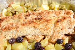 Pesce del gratin Fotografie Stock