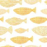 Pesce dell'acquerello di vettore su fondo leggero Immagini Stock