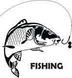 Pesce della carpa, illustrazione Fotografia Stock Libera da Diritti