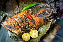 Pesce della griglia - Ikan Bakar fotografie stock