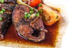 Pesce dello sgombro con la salsa di soia I Fotografia Stock