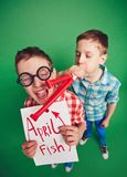 Pesce di aprile Fotografia Stock Libera da Diritti