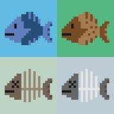 Pesce di arte del pixel dell'illustrazione fotografia stock libera da diritti