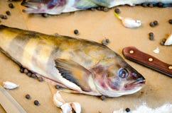 Pesce di Grinling con il pepe del limone delle verdure Immagine Stock Libera da Diritti