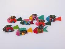 Pesce di legno brillantemente dipinto Fotografia Stock Libera da Diritti