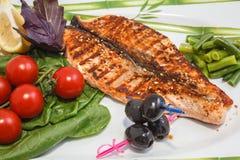 Pesce di recente cucinato Fotografia Stock