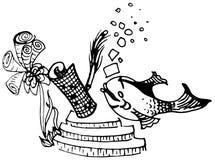 Pesce di Riddler Immagini Stock Libere da Diritti