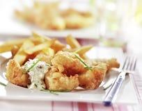 Pesce e patate fritte Immagini Stock Libere da Diritti