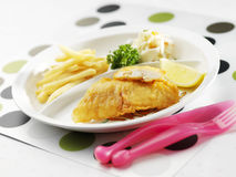 Pesce e patate fritte Fotografia Stock Libera da Diritti
