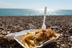 Pesce e patate fritte dal mare Immagini Stock