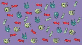 Pesce e polipi Fotografie Stock