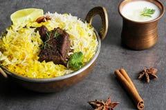 Pesce e riso indiani di stile di Biryani del pesce con il masala piccante Immagine Stock