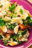 Pesce ed insalata affumicati Fotografia Stock Libera da Diritti