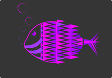 pesce fluorescente Fotografia Stock Libera da Diritti