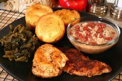 Pesce gatto e pollo di Cajun Immagini Stock