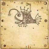 Pesce meccanico di animazione Fotografia Stock Libera da Diritti