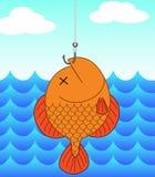Pesce morto e pesca Immagini Stock