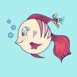 Pesce nel mare Royalty Illustrazione gratis