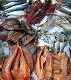 Pesce nel mercato, Tailandia immagine stock