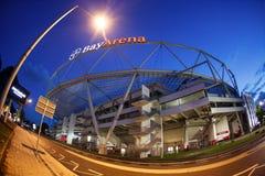 Pesce-occhio dello stadio di BayArena fuori della vista immagine stock