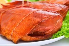 Pesce persico del pesce affumicato delizioso fotografia stock
