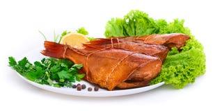 Pesce persico del pesce affumicato delizioso immagine stock libera da diritti