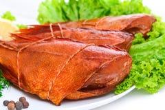 Pesce persico del pesce affumicato delizioso immagini stock