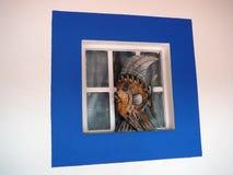 Pesce quadrato blu Immagine Stock