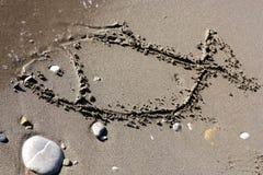Pesce in sabbia Fotografia Stock