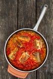 Pesce in salsa Fotografia Stock