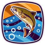 Pesce saltato Fotografia Stock