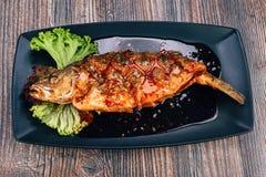 Pesce sano del branzino Fotografie Stock Libere da Diritti