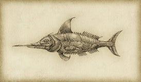 Pesce surreale Immagine Stock