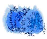 Pesce tropicale disegnato a mano royalty illustrazione gratis