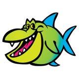 Pesce variopinto del fumetto sveglio di divertimento illustrazione vettoriale