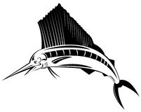 Pesce vela del Pacifico illustrazione di stock