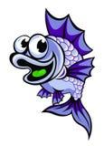 Pesce viola divertente Immagine Stock