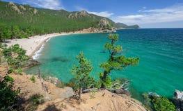 Peschanaya Sandy zatoka na Jeziornym Baikal Fotografia Stock