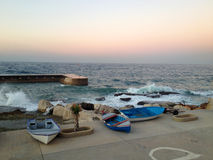 Pescherecci a Beirut, Libano Immagini Stock