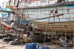 Pescherecci in cantiere navale Fotografia Stock