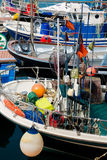 Pescherecci incagliati al porto Fotografia Stock Libera da Diritti