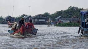 Pescherecci, linfa di Tonle, Cambogia Immagine Stock Libera da Diritti