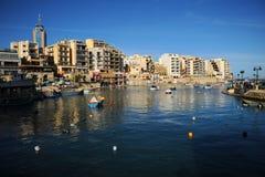 Baia della st Julians, Malta fotografia stock libera da diritti