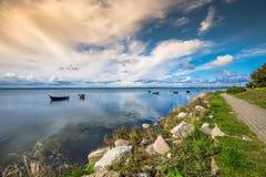 Pescherecci, Mar Baltico, baia del disco Fotografie Stock