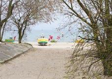 Pescherecci, spiaggia di Sopot fotografie stock
