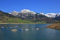 Pescherecci sul lago Waegital Fotografie Stock